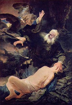 レンブラント「イサクの犠牲」