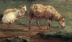 「休息する家畜の群れ」(部分)