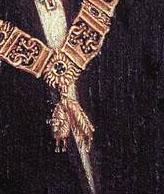 「フィリップ善良公の肖像」(部分)
