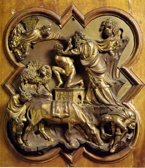 ブルネレスキ「イサクの犠牲」
