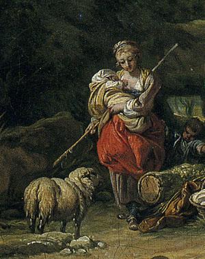 「羊飼い」(部分)