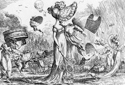 帝政下の帽子の流行