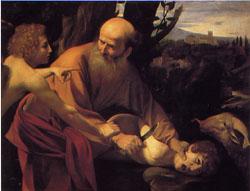 カラヴァッジオ 「イサクの犠牲」