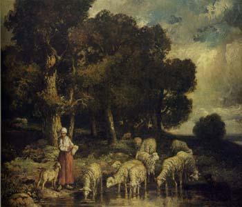 セラマノ「森外れの羊飼いと羊」