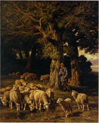 「羊の番をする羊飼い」