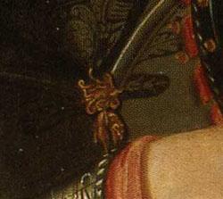 「コジモ1世の肖像」(部分)