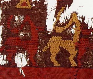 動物文縫取織断片(部分)