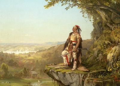 「遠方を見渡すインディアン」