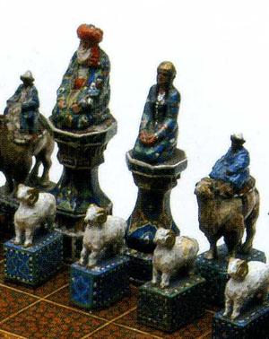 チェス盤(部分)