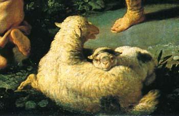 「エルミニアと羊飼い」(部分)