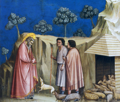 「羊飼いのもとに赴くヨアキム」