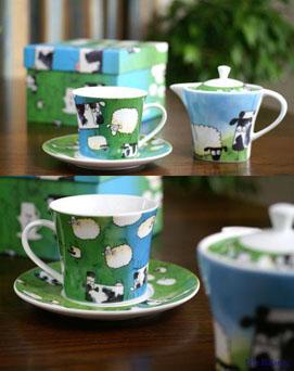 羊と牛 ティーカップ&ポット