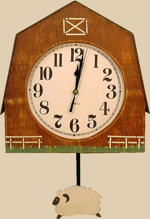 振り子時計 バーン&ヒツジ