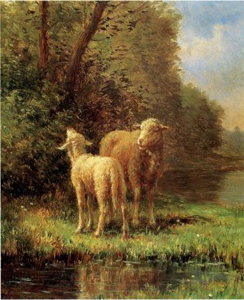 「母羊と子羊」