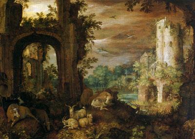 「廃墟に群れる家畜」