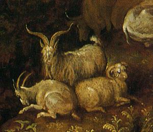 「廃墟に群れる家畜」(部分)