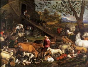 バッサーノ「ノアの箱船に乗り込む動物たち」