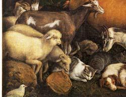 「ノアの箱船に乗り込む動物たち(部分)」