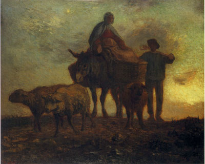 「畑からの帰り」