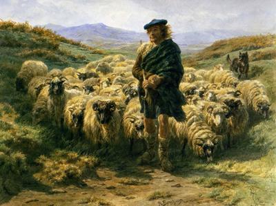 「ハイランドの羊飼い」