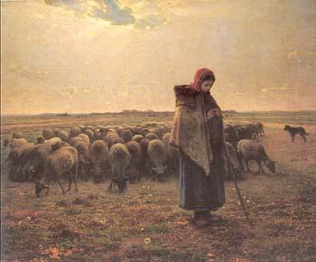 ミレー「羊飼いの少女」