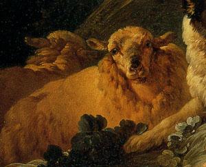 「羊飼い姿のヴィーナス」(部分)