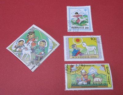 モンゴル羊切手