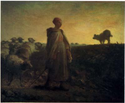 ミレー 「家路につく羊飼い」