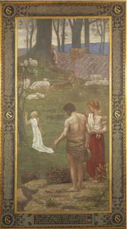 「祈りを捧げる少女時代の聖ジュヌヴィエーヴ」
