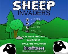 羊インベーダーゲーム