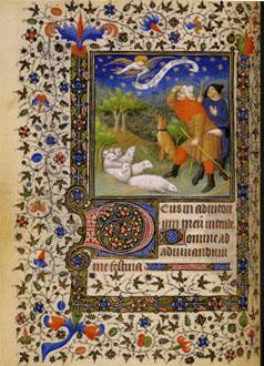 ブシコー派の画家の時祷書より「羊飼いへのお告げ」