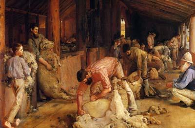 ロバーツ 「羊毛の刈取り」