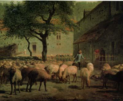 ミレー 「毛を刈られた羊」