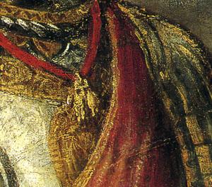 「ミュールベルクのカール5世」(部分)