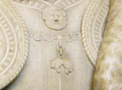 「アレッサンドロ・ファルネーゼ公爵の胸像」(部分)