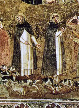 「教会の勝利」(右下部分)