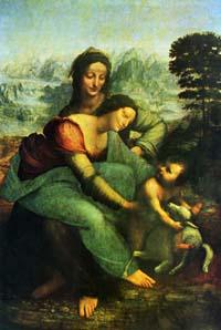 レオナルド・ダ・ヴィンチ「聖アンナと聖母子」