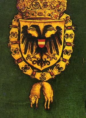 「皇帝マクシミリアン?世の肖像」(部分)