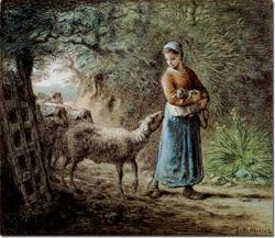 ミレー 生まれたての子羊