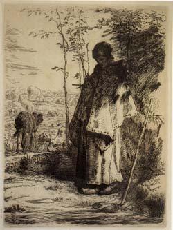 エッチング「羊飼いの少女」