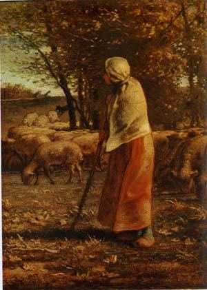 ミレー 「小さな羊飼い」