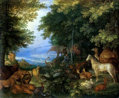 「音楽で動物を魅了するオルフェウス」