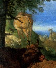 「音楽で動物を魅了するオルフェウス」(部分)