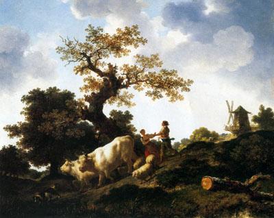 「家畜の群れの帰り」