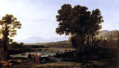 「ヤコブとラバンとその娘たちのいる風景」