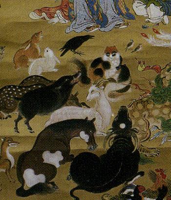 涅槃図(部分)