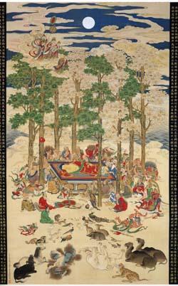 森徹山「仏涅槃図」