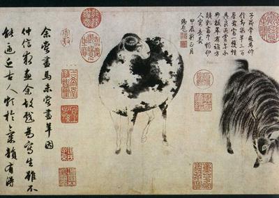 「二胡羊図」