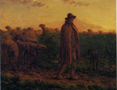 群れを連れ帰る羊飼い」