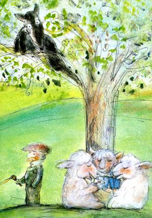 「オオカミと羊」